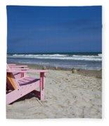 Seas The Chair  Fleece Blanket