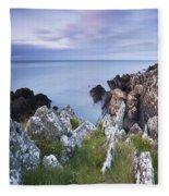 Seascape From Coast Of Clogherhead Fleece Blanket