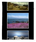 Seascape Triptych Fleece Blanket