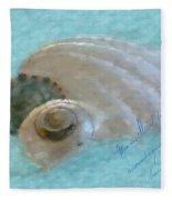 Seashells In Aqua Fleece Blanket