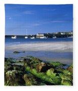 Seashore, Portnablagh, County Donegal Fleece Blanket