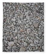 Seashore Rocks Fleece Blanket
