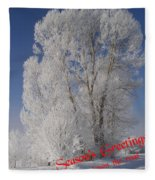 Seasons Greetings From Down The Road Fleece Blanket