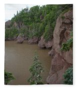 Seastacks At Hopewell Rocks Fleece Blanket