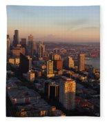 Seattle Blue Hour Fleece Blanket