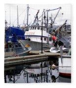 Seattle Fishermans Terminal Fleece Blanket
