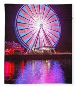 Seattle Great Wheel 2 Fleece Blanket
