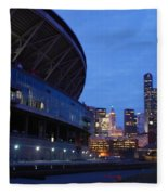Seattle Sky At Dusk Fleece Blanket