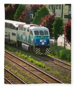 Seattle Sounder Train Fleece Blanket