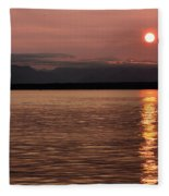Seattle Sunset Fleece Blanket