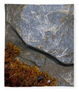 Seaweed And Rock Fleece Blanket