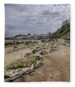 Seaweed Rocks Tenby Fleece Blanket