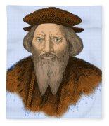 Sebastian Cabot, Italian Explorer Fleece Blanket