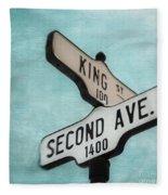 second Avenue 1400 Fleece Blanket by Priska Wettstein