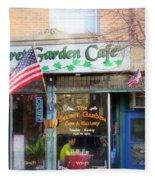 Secret Garden Cafe Fleece Blanket