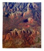 Sedona Arizona Planet Earth Fleece Blanket