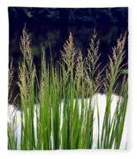 Seedy Grass Fleece Blanket