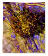 Seize The Day - Abstract Art Fleece Blanket