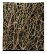 Sem Of Mycelium On Mushrooms Fleece Blanket