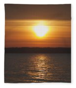 Seneca Lake Sunrise Fleece Blanket