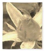 Sepia Rose Bud Fleece Blanket
