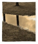 Sepia Silhouetted Reflections  Fleece Blanket