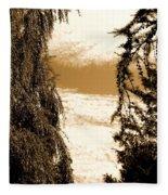 Sepia Sky 2 Fleece Blanket
