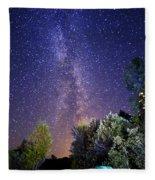 September Night Sky Fleece Blanket