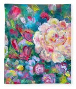 Serendipity Floral Fleece Blanket