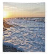Serene Sunrise Fleece Blanket