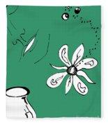 Serenity In Green Fleece Blanket