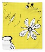 Serenity In Yellow Fleece Blanket