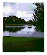 Serenity Lake 4 Fleece Blanket