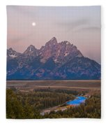 Setting Moon Fleece Blanket