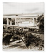 Seven Bridges View Fleece Blanket