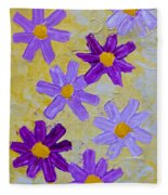 Seven Flowers Fleece Blanket