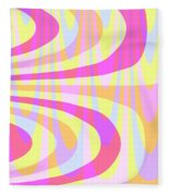 Seventies Swirls Fleece Blanket