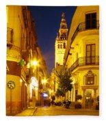 Sevilla At Night Fleece Blanket