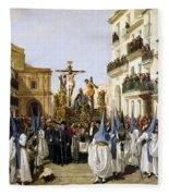 Seville: Good Friday, 1862 Fleece Blanket