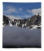 Seward Mountain Range Fleece Blanket