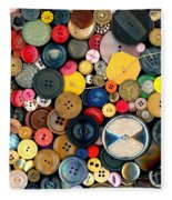Sewing - Buttons - Bunch Of Buttons Fleece Blanket