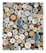 Sewing - Buttons - Lots Of White Buttons Fleece Blanket
