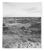 Shackleford Banks Camping Fleece Blanket