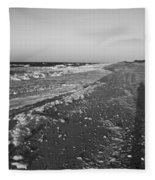 Shackleford Beach Morning Fleece Blanket