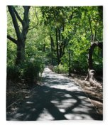 Shaded Paths In Central Park Fleece Blanket