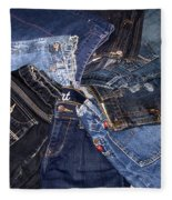 Shades Of Denim Fleece Blanket
