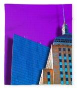 Shadow Of The City Fleece Blanket
