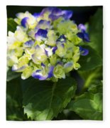 Shadowy Purple And White Emerging Hydrangea Fleece Blanket