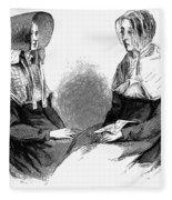 Shaker Women, 1875 Fleece Blanket