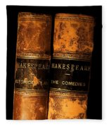Shakespeare Leather Bound Books Fleece Blanket